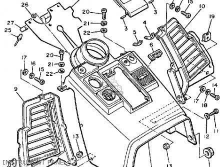Yamaha VMX540L V-MAX 1987 parts lists and schematics