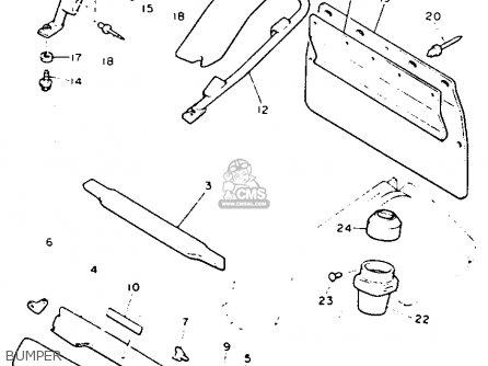 Yamaha Vt480gtt Venture Gt 1993 parts list partsmanual