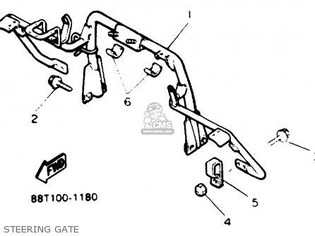 Yamaha VT480GTT VENTURE GT 1993 parts lists and schematics