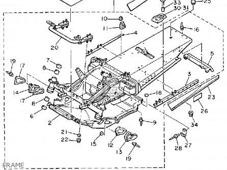 Yamaha Vt480r Venture 1991 parts list partsmanual partsfiche