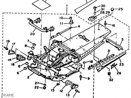 Yamaha VT480T VENTURE XL 1993 parts lists and schematics