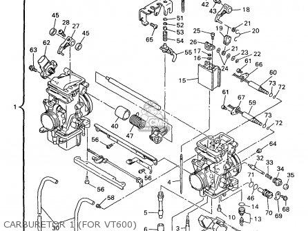 Yamaha Vt500/600a 1997 parts list partsmanual partsfiche