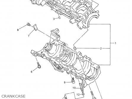 Yamaha Vt700/600f 2001 parts list partsmanual partsfiche