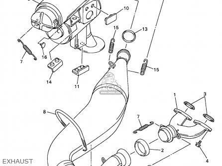 Yamaha Vx500/600xtcdb 1998 parts list partsmanual partsfiche