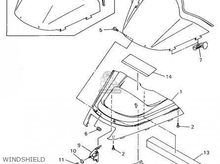 Yamaha Vx600/700sxa 1997 parts list partsmanual partsfiche