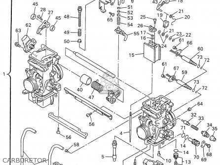 Yamaha Vx600stw 1996 parts list partsmanual partsfiche