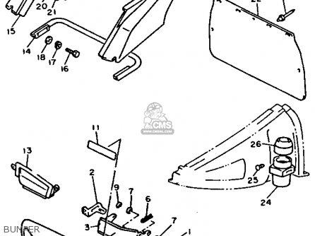 Yamaha VX750S V-MAX 1992 parts lists and schematics
