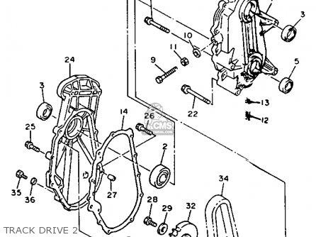 Yamaha Vx750s V-max 1992 parts list partsmanual partsfiche