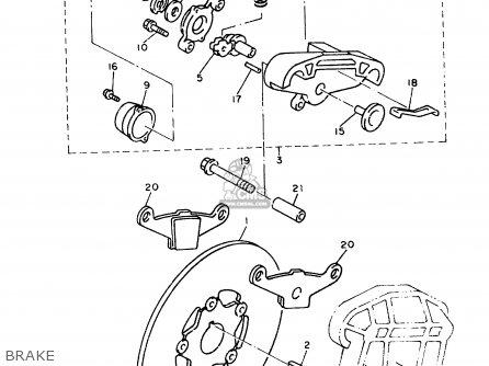 Yamaha Vx750t V-max 1993 parts list partsmanual partsfiche