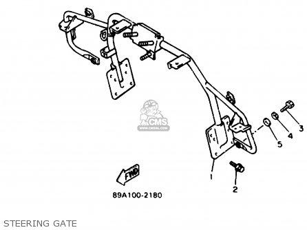 Yamaha VX750T V-MAX 1993 parts lists and schematics