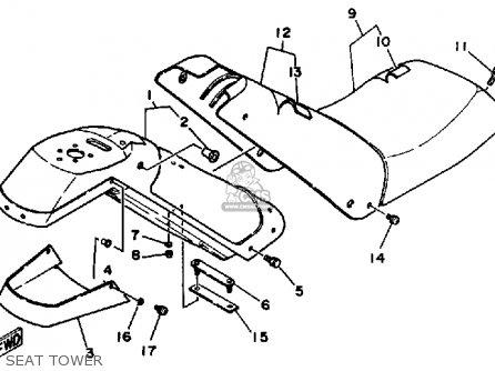 Yamaha WJ500F 1989 EW3 WAVEJAMMER USA parts lists and
