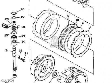 Yamaha Wr200rd Competition 1992 parts list partsmanual