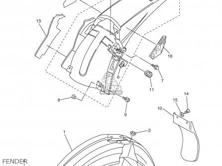 Yamaha WR250F 2003 (3) USA parts lists and schematics