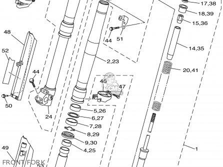 Yamaha Wr250f Competition 2001 (1) Usa parts list