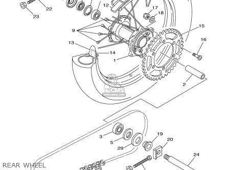 Yamaha Wr250f Competition 2002 (2) Usa parts list