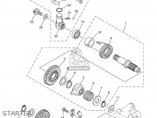 Yamaha WR250FS 2004 5UM7 CANADA 1C5UM-100E1 parts lists