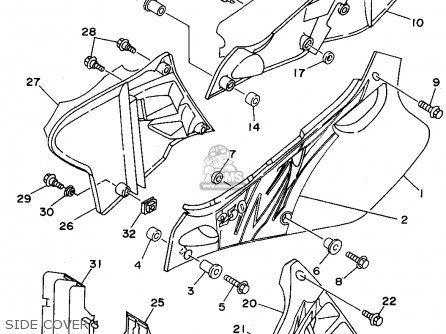 Yamaha WR250Z 1995 (S) USA parts lists and schematics