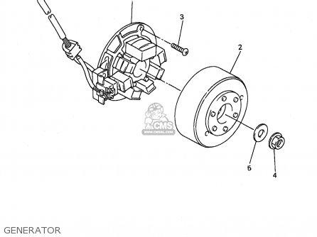 Yamaha WR400F 1998 (W) USA ENGLAND parts lists and schematics