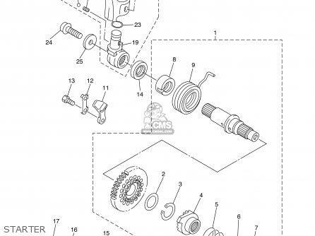Yamaha Wr450fr 2003 parts list partsmanual partsfiche