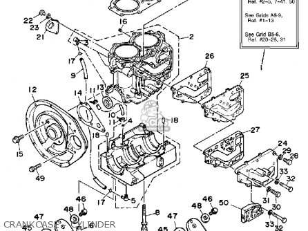 Yamaha WR500D 1990 WAVERUNNER parts lists and schematics