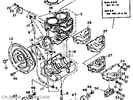 Yamaha Wr500f 1989 Waverunner parts list partsmanual