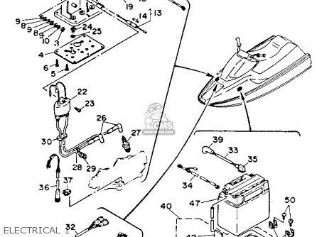 Yamaha WR500Q 1992 WAVERUNNER parts lists and schematics