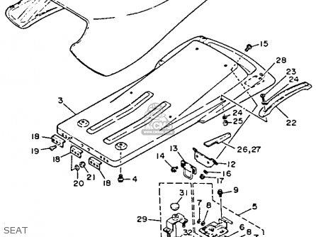 Yamaha Wr500r 1993 parts list partsmanual partsfiche
