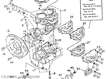 Yamaha WR500R 1993 WAVERUNNER parts lists and schematics