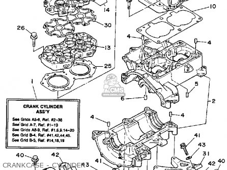 Yamaha Wr650 P 1991 Fk7 Waverunner parts list partsmanual