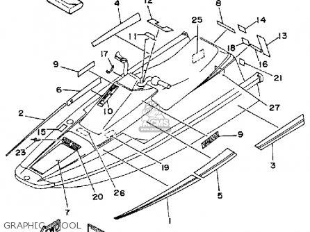 Yamaha WR650 P 1991 FK7 WAVERUNNER parts lists and schematics
