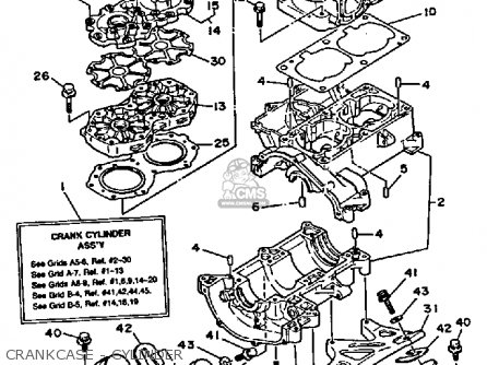 Yamaha WR650D 1990 WAVERUNNER parts lists and schematics