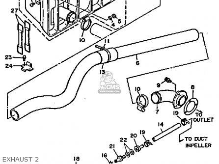 Yamaha WR650D 1990 WAVERUNNER parts lists and schematics