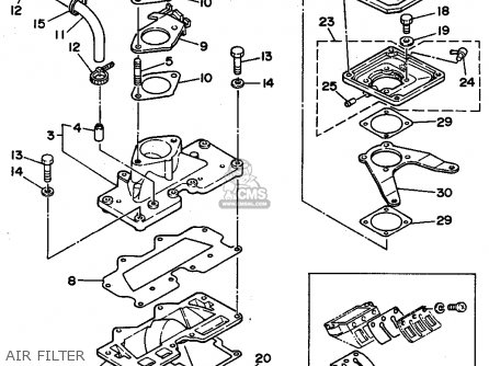 Yamaha Wra650p 1991 Fj0 Waverunner Iii parts list