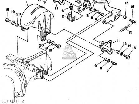 Yamaha WRA650P 1991 FJ0 WAVERUNNER III parts lists and
