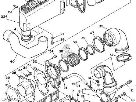 Yamaha WRA650Q 1992 FJ0 WAVERUNNER III parts lists and