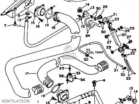 Yamaha WRA650R 1993 WAVERUNNER parts lists and schematics