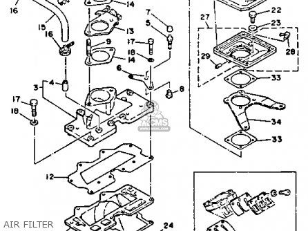 Yamaha Wra650ra 1993 Waverunner parts list partsmanual