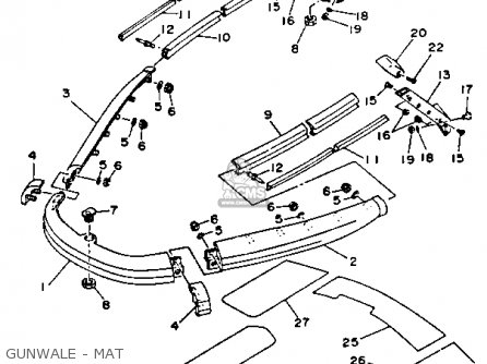Yamaha WRA650RA 1993 WAVERUNNER parts lists and schematics