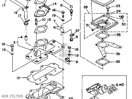 Yamaha WRB650P 1991 FN8 WAVERUNNER parts lists and schematics