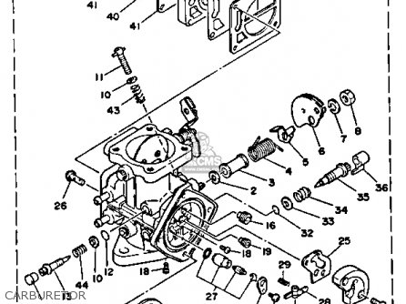 Yamaha WRB650P 1991 WAVERUNNER parts lists and schematics