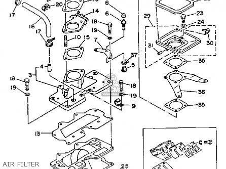 Yamaha WRB650R 1993 FN8 WAVERUNNER parts lists and schematics
