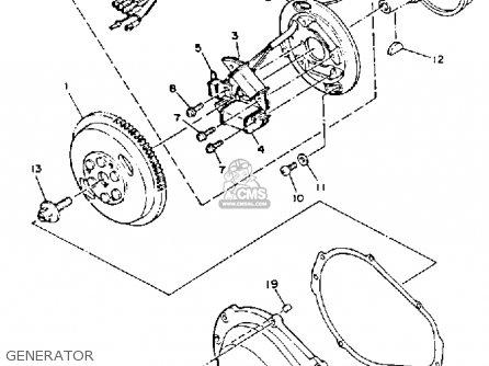 Yamaha WRB650R 1993 FN8 WAVERUNNER parts lists and schematics