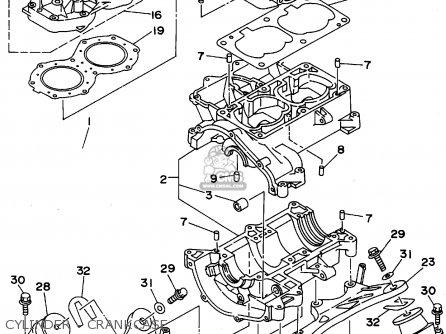 Yamaha WRB650T 1995 USA parts lists and schematics