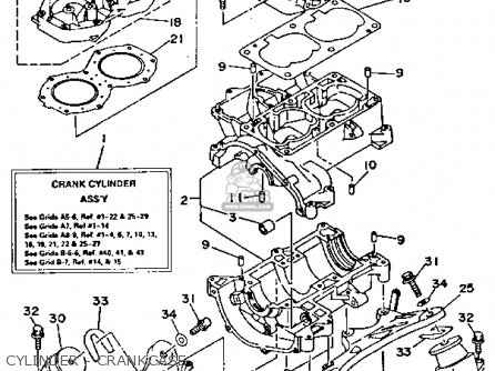 Yamaha Wrb700r 1993 Waverunner Usa parts list partsmanual