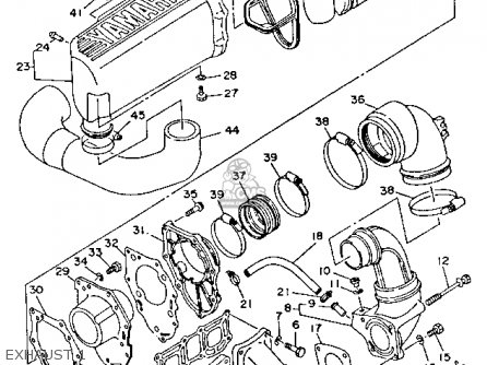 Yamaha WRB700R 1993 WAVERUNNER USA parts lists and schematics