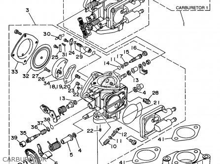 Yamaha Wvt1100u 1996 parts list partsmanual partsfiche