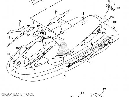 Yamaha Wvt1100v 1997 parts list partsmanual partsfiche