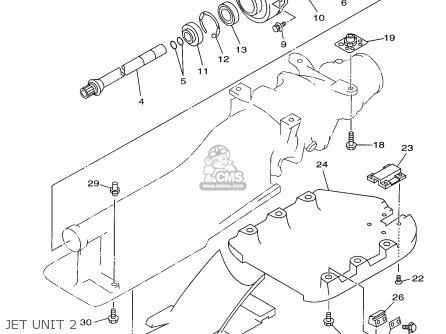Yamaha Wvt700w 1998 parts list partsmanual partsfiche