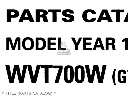 Yamaha Wvt700w 1998 parts list partsmanual partsfiche