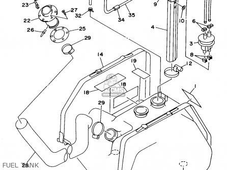 Yamaha Wvt760v 1997 parts list partsmanual partsfiche